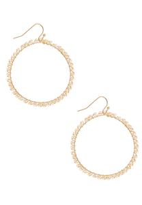Seed Bead Wire Hoops