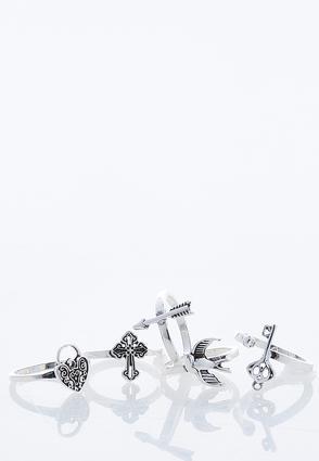 Mixed Charm Ring Set | Tuggl