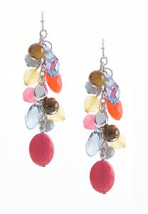 Dangle Mixed Bead Earrings