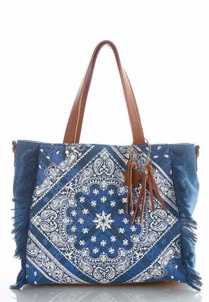 Frayed Bandana Canvas Tote