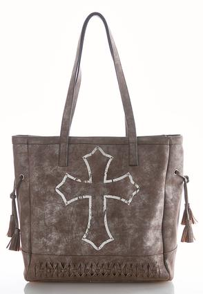 Foil Cross Burnished Tote