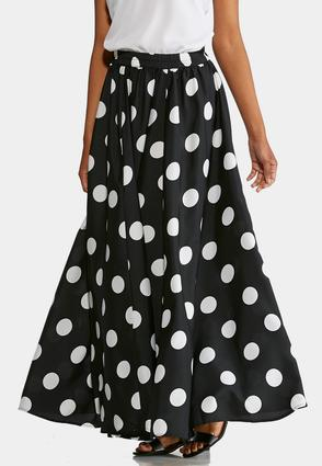 Polka Dot Swing Maxi Skirt | Tuggl
