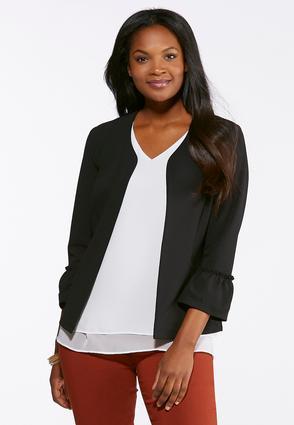 Ruffled Sleeve Jacket | Tuggl