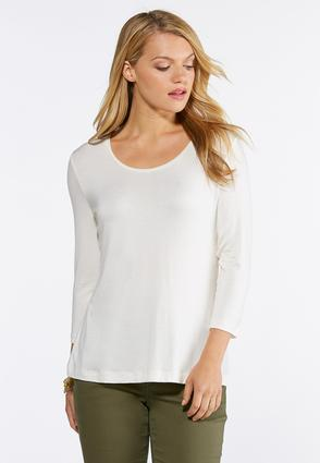 Solid Scoop Neck Tee | Tuggl