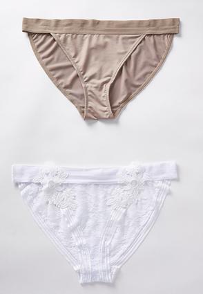 Plus Size Floral Applique Panty Set | Tuggl