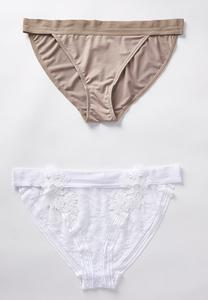 Plus Size Floral Applique Panty Set