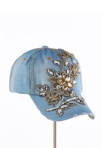 Embellished Denim Baseball Cap