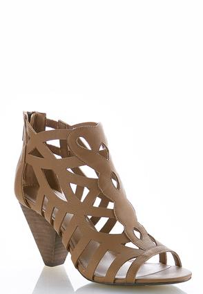 Caged Cone Heel Shooties