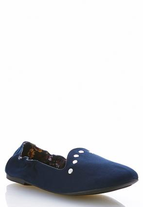Stud Trim Smoking Flats | Tuggl
