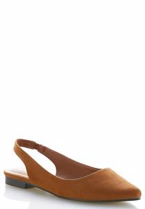 Faux Suede Slingback Flats