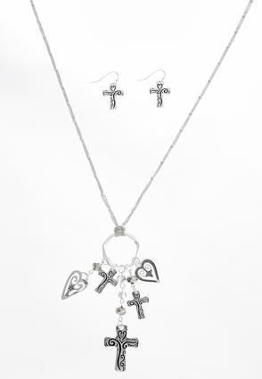 Cross Charm Necklace Set | Tuggl