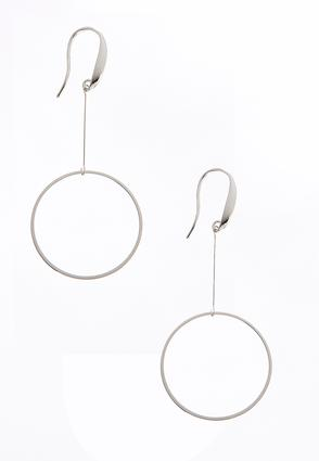 Silver Circle Earrings | Tuggl