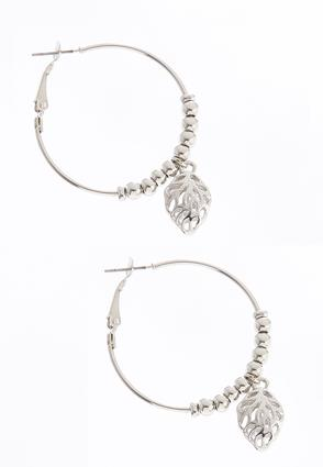 Dangling Leaf Hoops | Tuggl