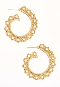 Curled Hoop Earrings
