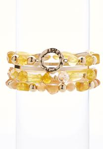 Stretch Bead And Bangle Set