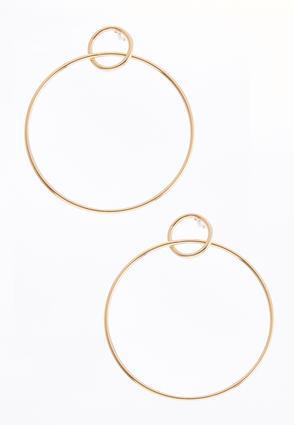 Interlocked Gold Hoop Earrings | Tuggl