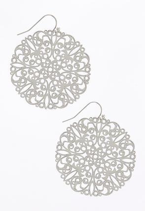 Filigree Silver Earrings | Tuggl