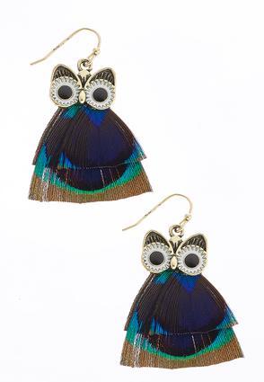 Owl Feather Earrings | Tuggl