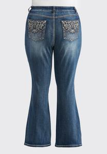 Plus Petite Western Inspired Bootcut Jeans