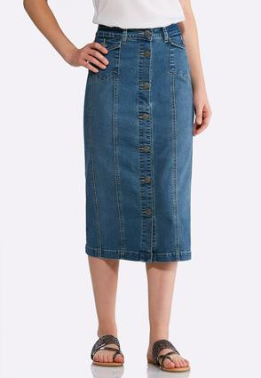 Plus Size Button Front Denim Skirt at Cato in Philadelphia, PA | Tuggl