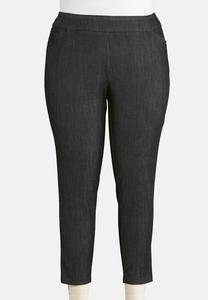 Plus Size Pull-On Woven Pants