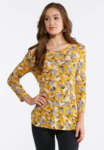Plus Size Golden Paisley Top