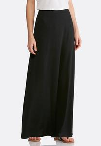 Plus Size Solid Hacci Maxi Skirt