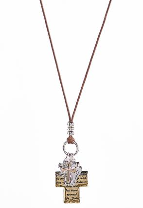 Two-Toned Inspirational Pendant Necklace | Tuggl