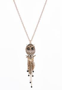 Shaky Owl Pendant Necklace
