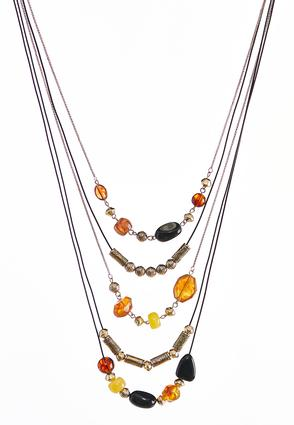 Multi Layered Mixed Bead Necklace | Tuggl