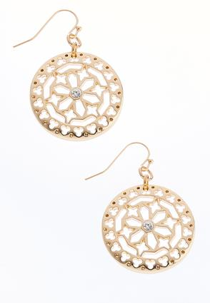 Cutout Medallion Earrings | Tuggl