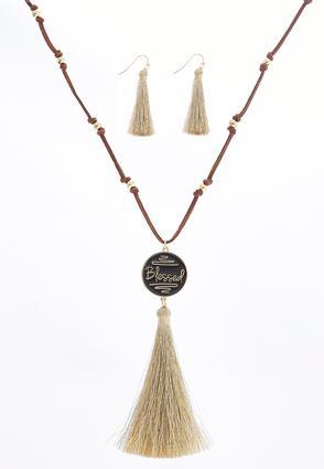 Blessed Tassel Necklace Set | Tuggl