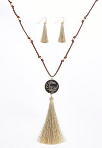 Blessed Tassel Necklace Set