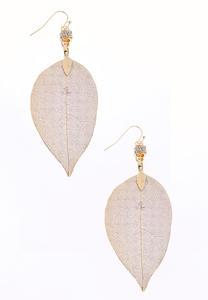 Pressed Leaf Earrings