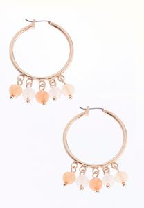 Dangling Bead Hoops