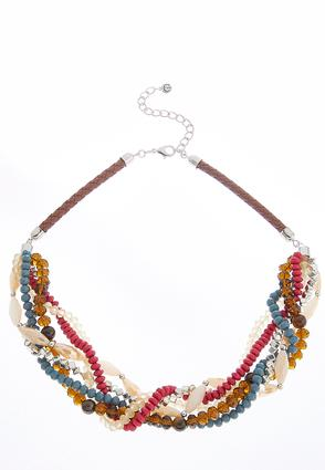 Twisted Bead Cord Necklace