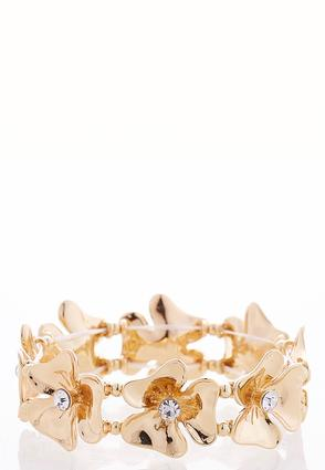 Flower Rhinestone Stretch Bracelet | Tuggl