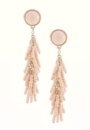 Seed Bead Tassel Earrings | Tuggl