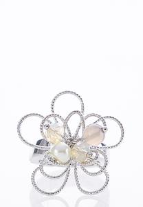 Wire Flower Stretch Ring