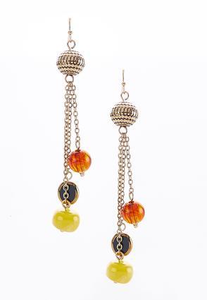 Linear Beaded Chain Earrings | Tuggl