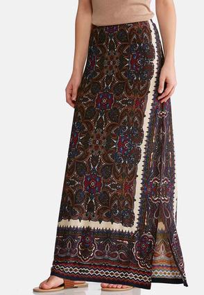 Rich Mixed Print Maxi Skirt   Tuggl