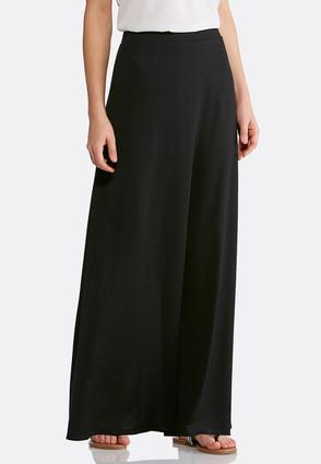 Solid Hacci Maxi Skirt   Tuggl