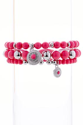 Colored Bead Stretch Bracelet Set