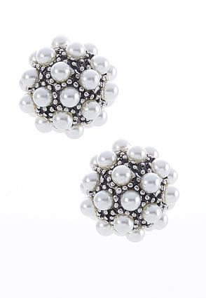 Cluster Pearl Studs | Tuggl