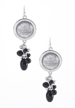 Glitter Circle Cluster Bead Earrings | Tuggl