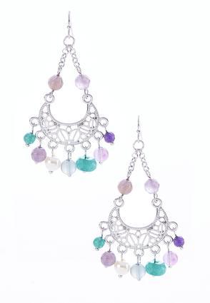 Purple Filigree Bead Earrings | Tuggl