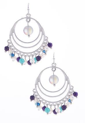 Beaded Triple Circle Earrings | Tuggl