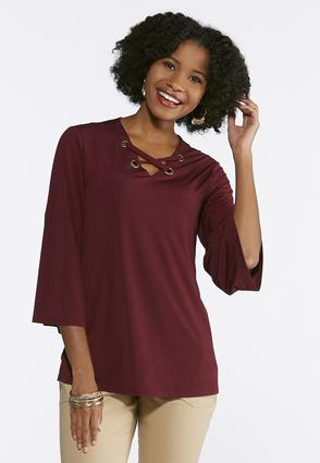 Criss Cross Grommet Tunic
