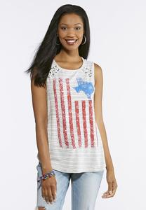 Striped Americana Texas Tank