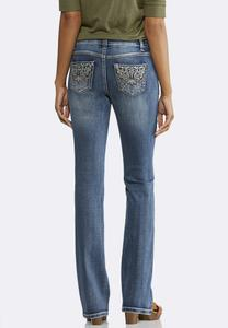 Petite Western Inspired Bootcut Jeans